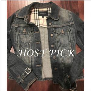 Burberry Denim Women's Jacket Nova Check